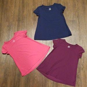 Lot of 3 Girls Wonder Nation short sleeve shirts
